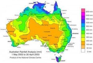 average-rainfall-australia