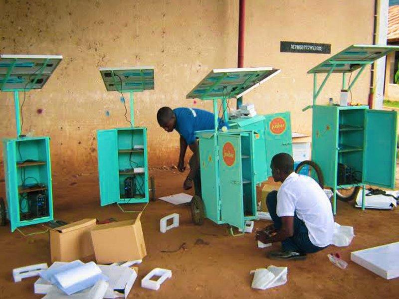 Many Juabar Solar Charging Units
